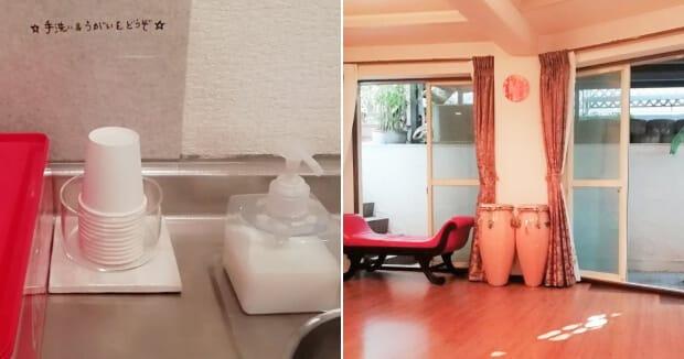 清潔感を一番大切に! 床や鏡もこまめに清掃
