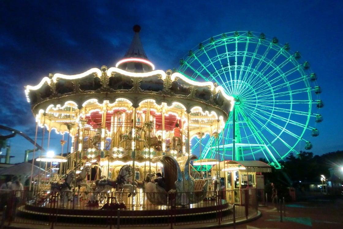 夜の遊園地を貸し切ってみませんか? 日本モンキーパーク の写真