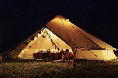 ラグジュアリーなテント宿泊。グランピングステイ No.1 の写真