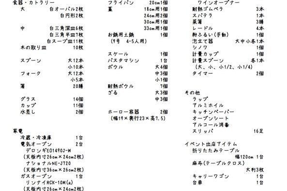 """菓子製造/飲食店営業許可付きシェアキッチン""""すたーとあっぷきっちん"""" の写真"""