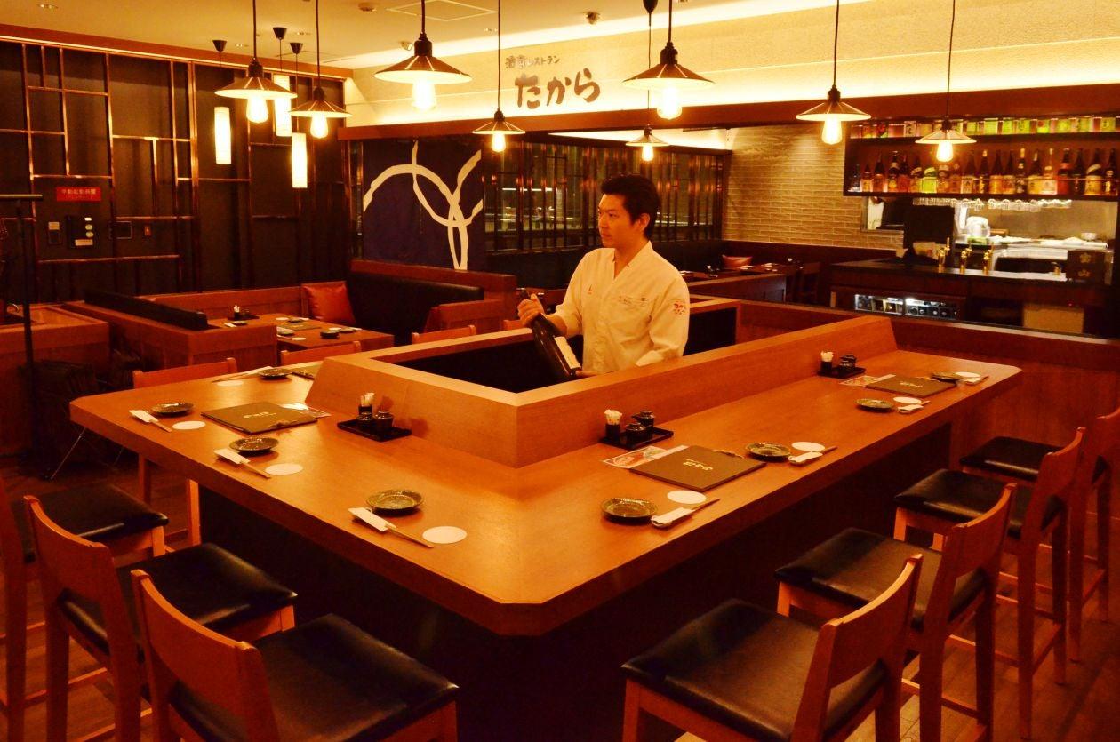 お洒落な酒蔵レストランのカウンターを貸し切って宴会はいかがでしょうか♪(8〜10名様) / 博多 パーティー 宴会(酒蔵レストラン たから) の写真0