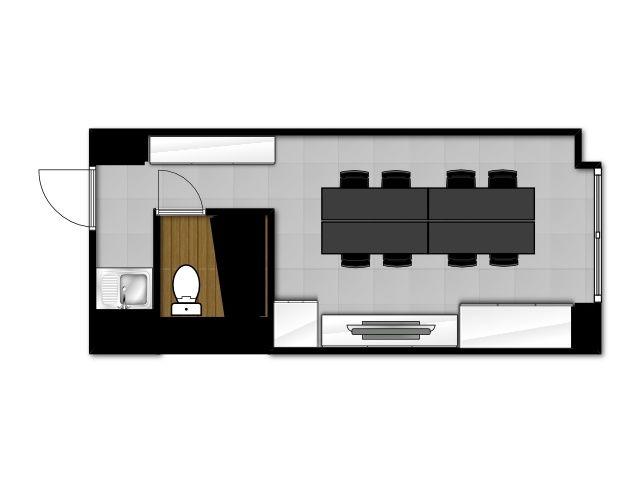 【MOON】新宿 完全個室 高速ネット回線 50インチ大型モニタ全て無料で利用可A の写真