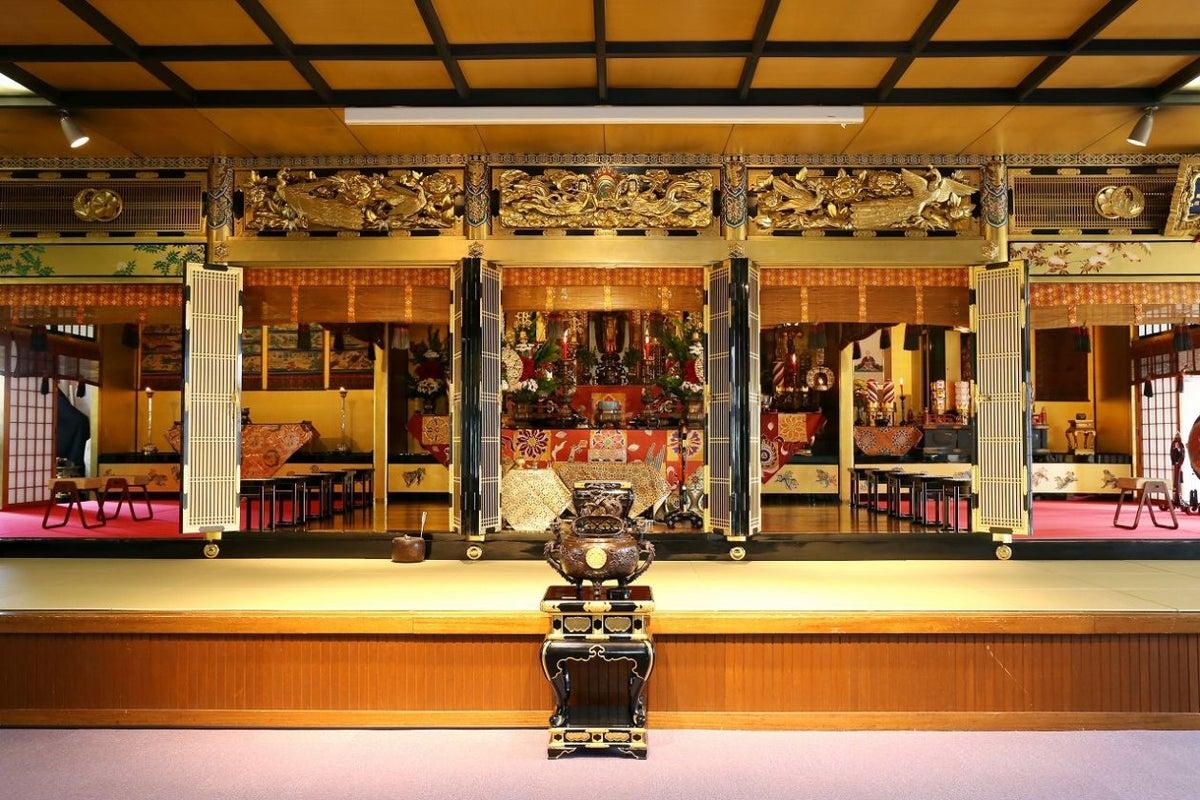 お寺の本堂での講演、イベントに最適【本堂ホール】 の写真