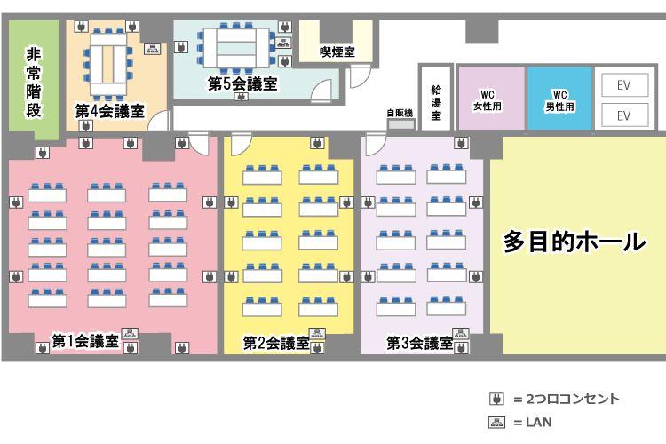 【新横浜駅徒歩3分】新横浜ホール(第五会議室) / 横浜 会議室 の写真