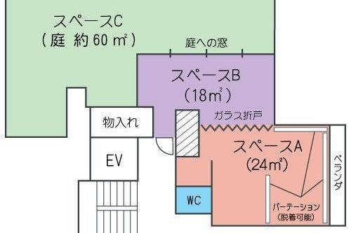 【渋谷徒歩6分】各種教室にもぴったり 大きな窓が気持ちのいいサンルーム Room〈B〉(18㎡) の写真