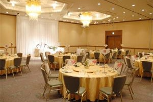 290㎡の宴会場「若草の間」 会議、講演会、イベントまで様々な用途で利用できる中型宴会場 の写真