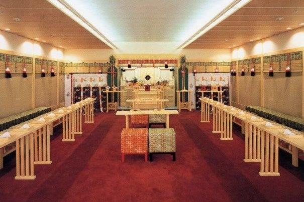 日本古来の神殿をモチーフにした空間で撮影をしよう の写真