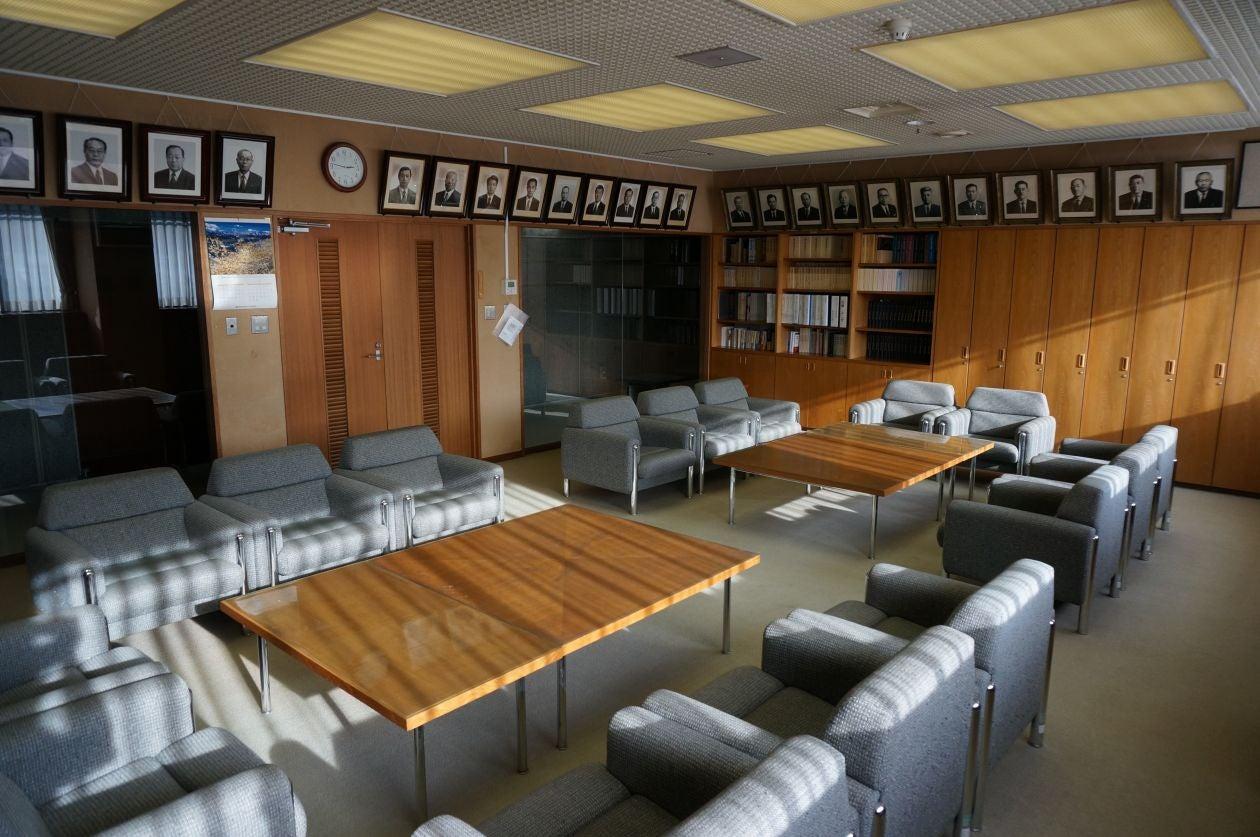 横瀬町役場本庁舎「町長室」 の写真