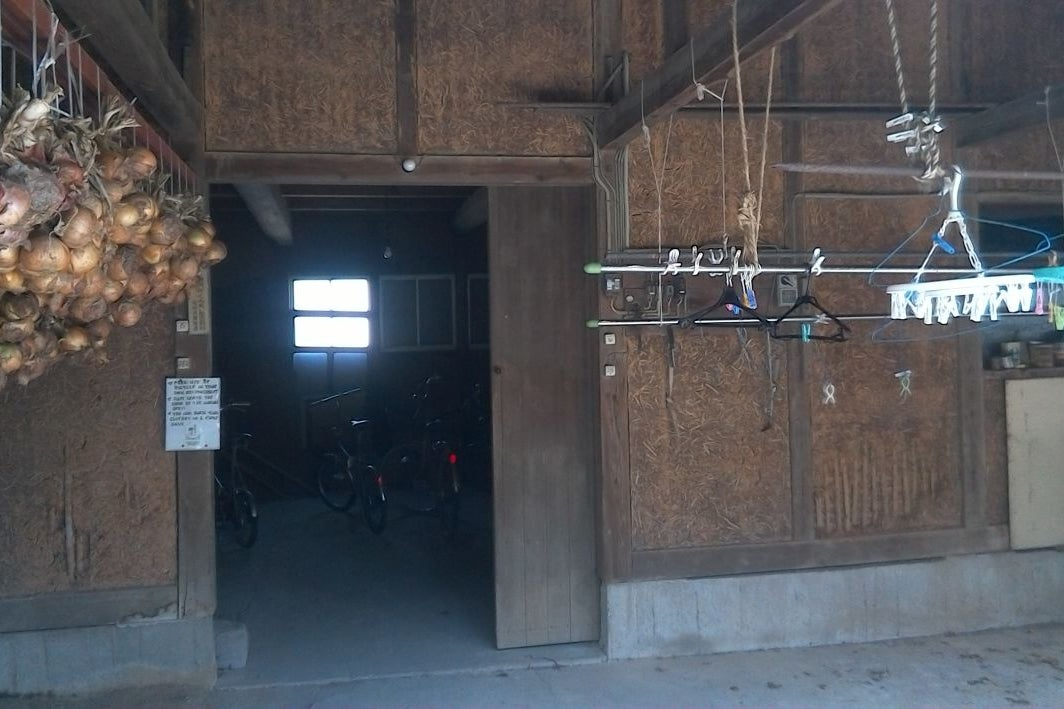木造倉庫 の写真