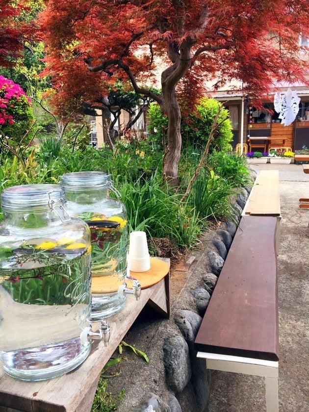 横浜・寺家ふるさと村で、周りは里山の田んぼ、畑、竹林。パーティやイベントにおすすめの広いスペース の写真