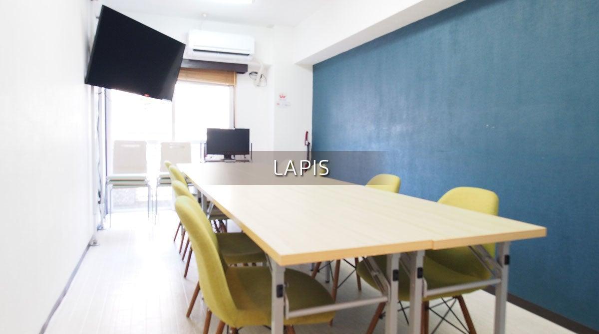 【ラピス】新宿徒歩1分 完全個室 格安 落ち着くお部屋 電源 WiFi プロジェクター無料 C