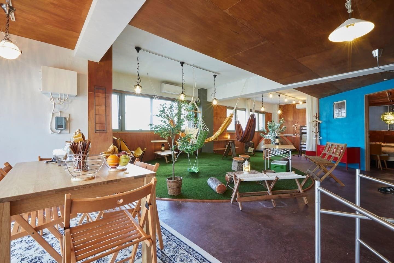 屋内キャンプ・グランピングが楽しめるスペースです☆ハンモック・ブランコ・テント・無煙ロースター・プロジェクターあり(浅草おうちキャンプ|Indoor Camp & Gramping Space) の写真0