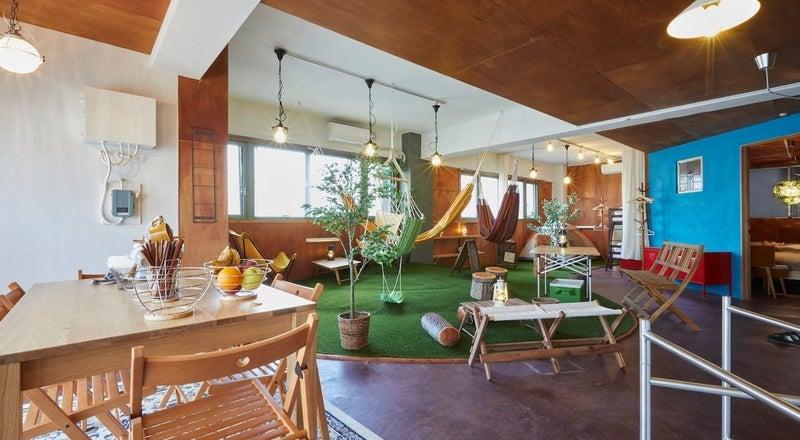 屋内キャンプ・グランピングが楽しめるスペースです☆ハンモック・ブランコ・テント・無煙ロースター・プロジェクターあり