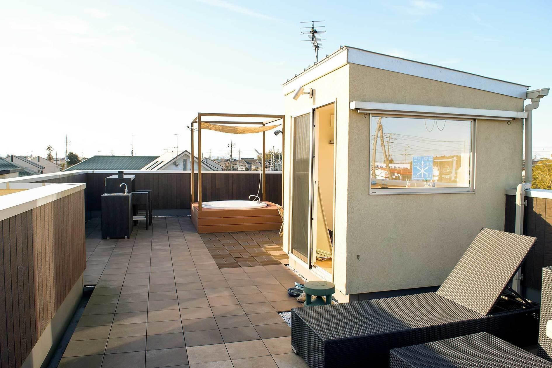 屋上で露天風呂やバーカウンターなどパーティーや撮影に!茨城県水戸市(屋上で露天風呂やバーカウンターなどパーティーや撮影に!茨城県水戸市) の写真0
