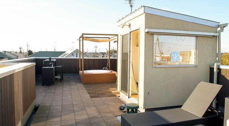 屋上で露天風呂やバーカウンターなどパーティーや撮影に!茨城県水戸市
