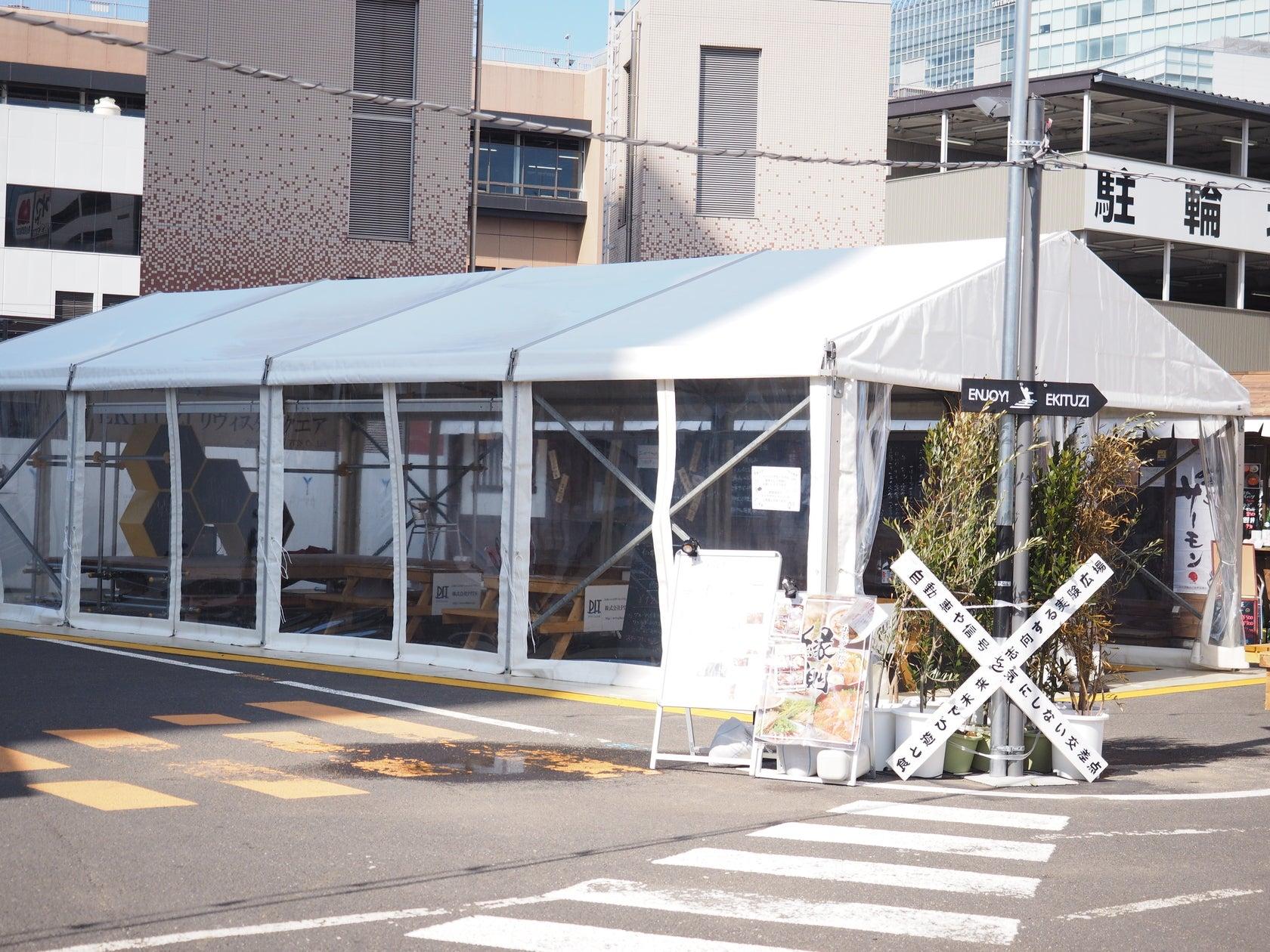 【2018秋~3月末】【EKITUZI】仙台駅徒歩0分 ステージ/電源つき 屋根付き屋外イベントスペース のサムネイル