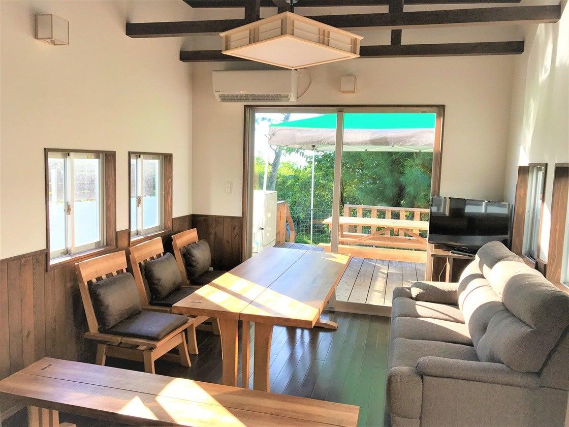 新築 恩納村真栄田 海目の前 BBQテラス付きビーチサイド・トレーラーハウス の写真