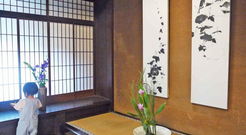 京間和室16畳。坪庭が美しい築200年の大型京町家ギャラリー「be京都」。イベント、講座、撮影などに!京都御所、同志社大近く。