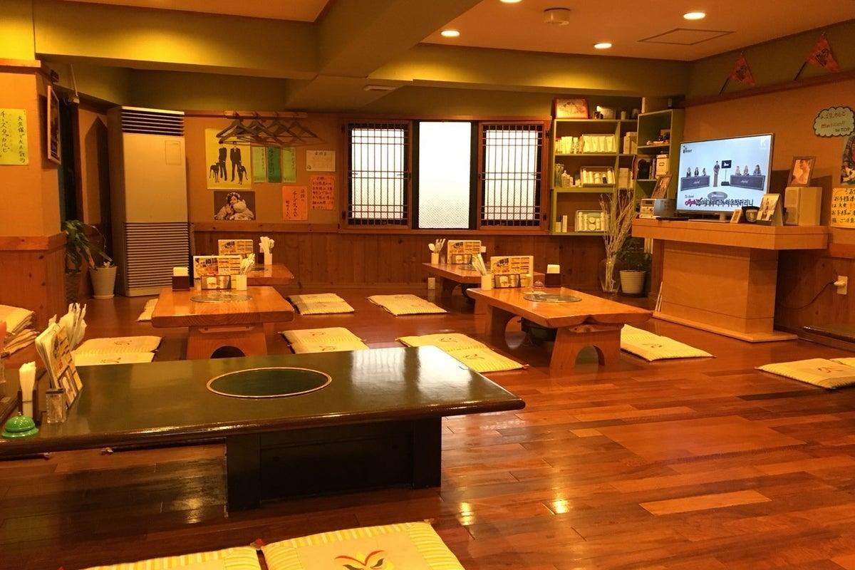 韓国風の広々としたフラットな座敷でくつろげます。 の写真
