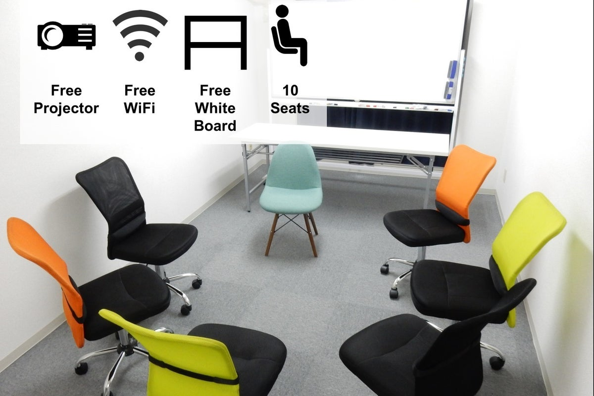 <横浜会議室>【横浜駅徒歩3分】ゆったり10名!完全個室でWIFI/プロジェクター無料! の写真