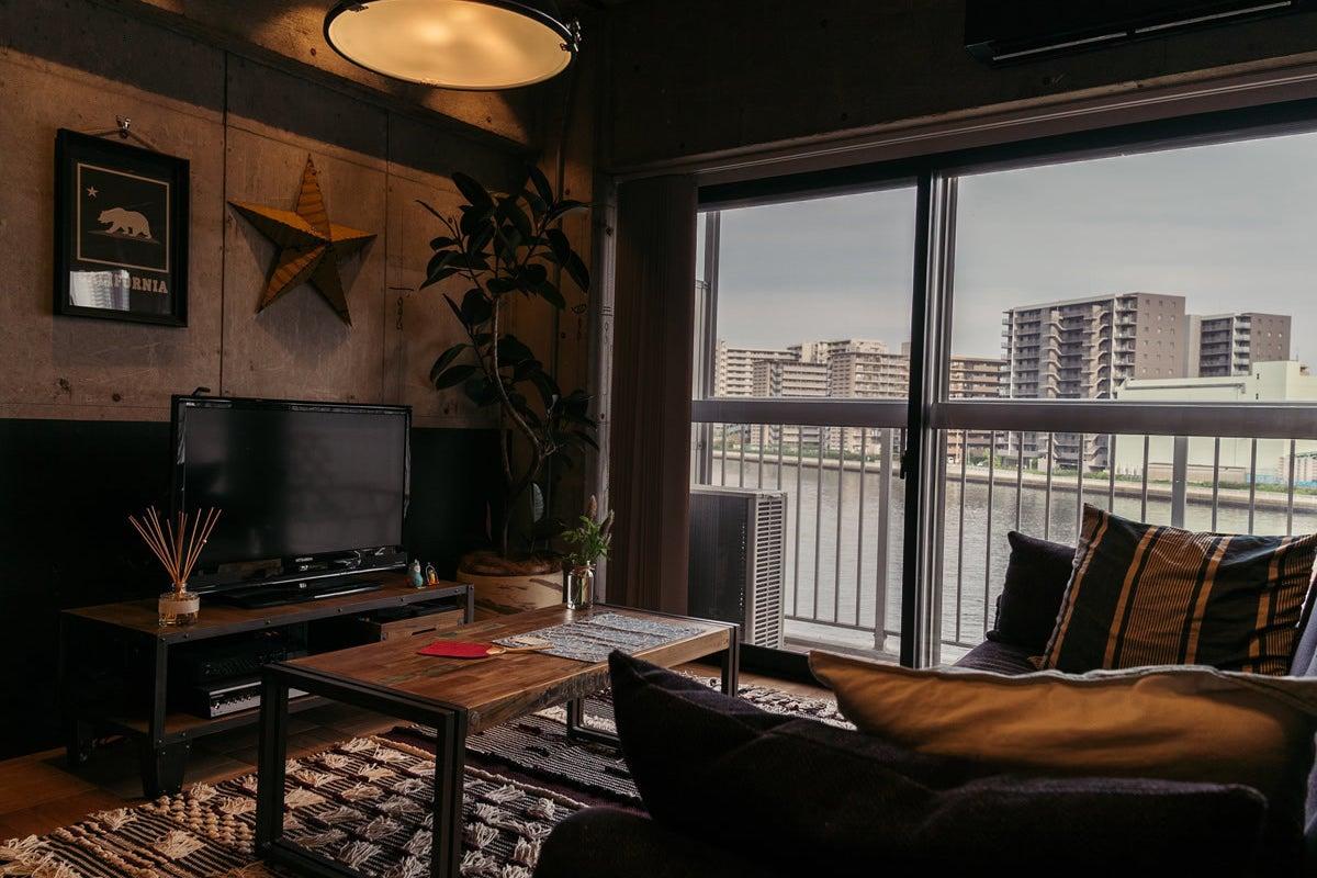 【1日撮影でロケハン無料】ブルックリンホテル風リノベマンション。インダストリアル、豊洲運河、川沿い、リバーサイド、夜景がキレイ の写真