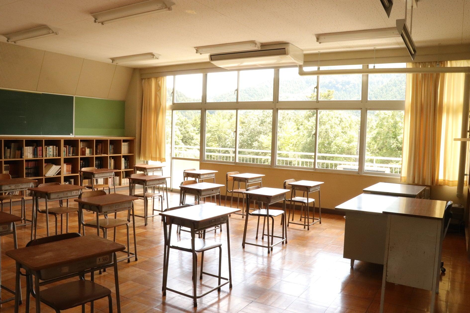 【教室A】学生時代にタイムスリップしたかのうような廃校の教室で撮影ができます(OKUTAMA+(旧古里中学校)) の写真0