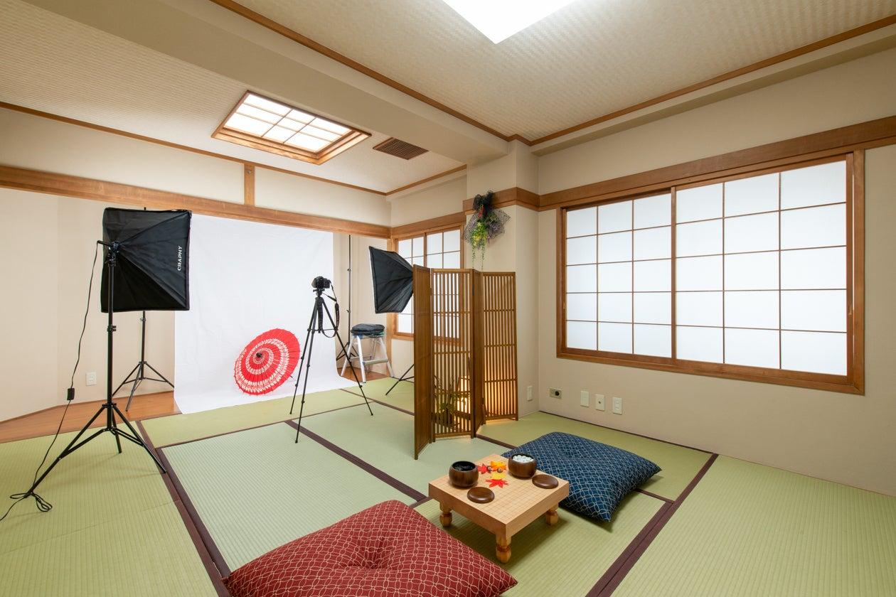 和室に撮影スペースもあります!