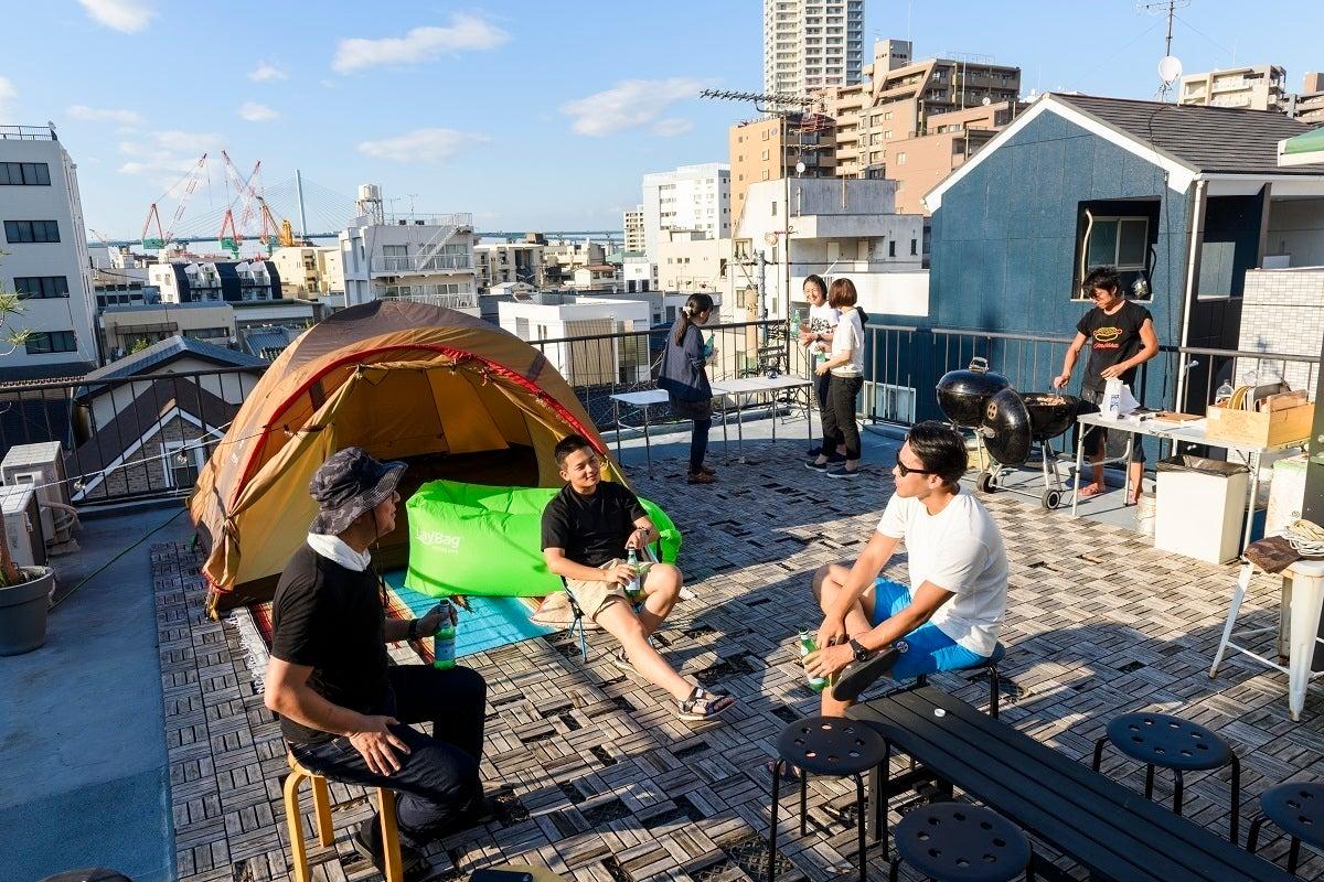 福岡・大濠公園駅徒歩3分【屋上で造船場が眺めるグランピング&BBQ】Roof Top Garden【リノベエステイト】 の写真