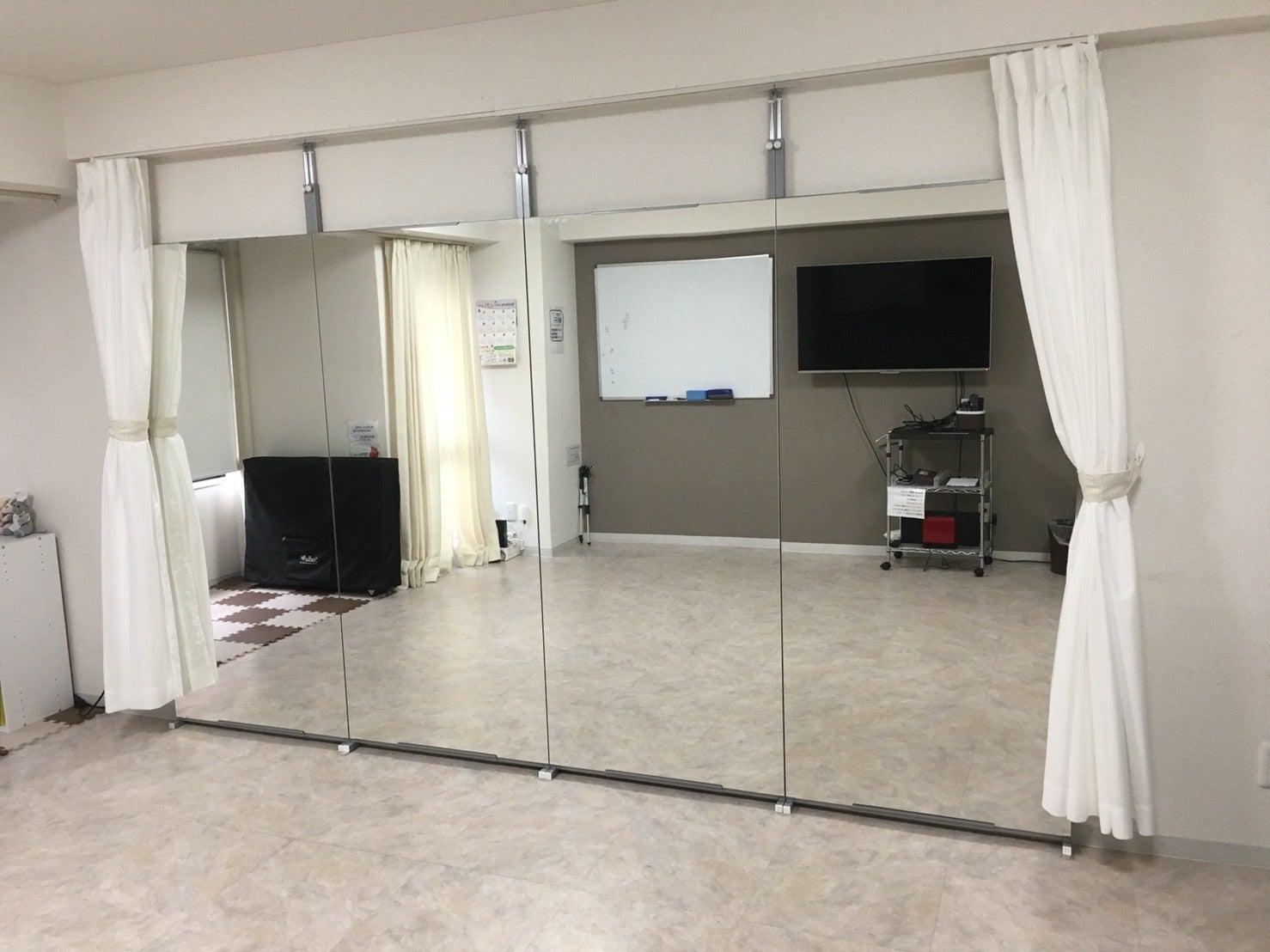【横浜駅】大型鏡付き!ダンスやヨガができるフロアタイル!平日1時間1000円で大型モニター、WiFi完備