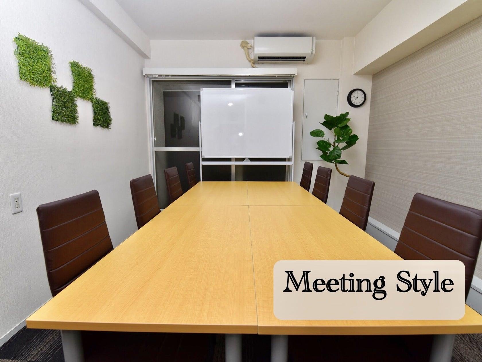 〈エキチカ会議室 ラテ〉名駅徒歩2分/おしゃれな空間/プロジェクター無料/10名収容 の写真