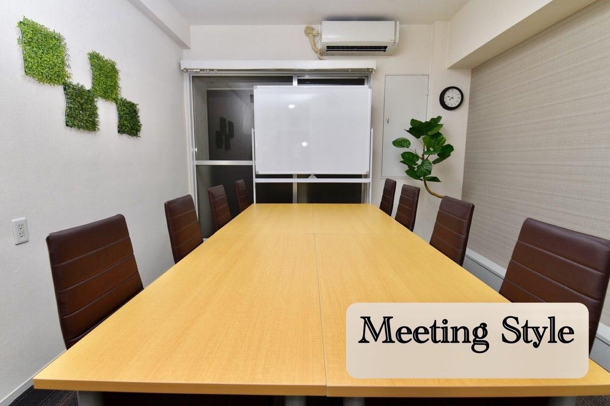 〈エキチカ会議室 ラテ〉名古屋駅徒歩2分/おしゃれな空間/プロジェクター無料/10名収容 の写真