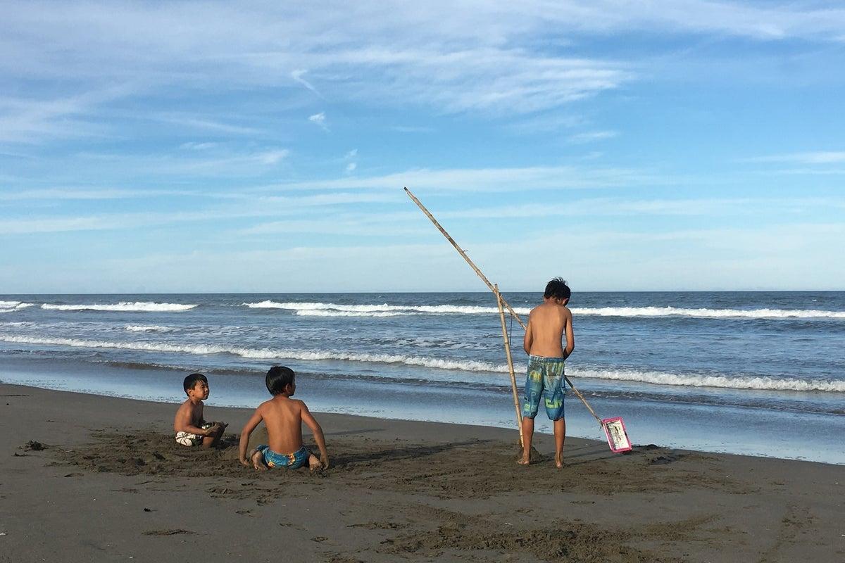 広いお庭と目の前の九十九里浜!海で遊んで、BBQで盛り上がって! の写真
