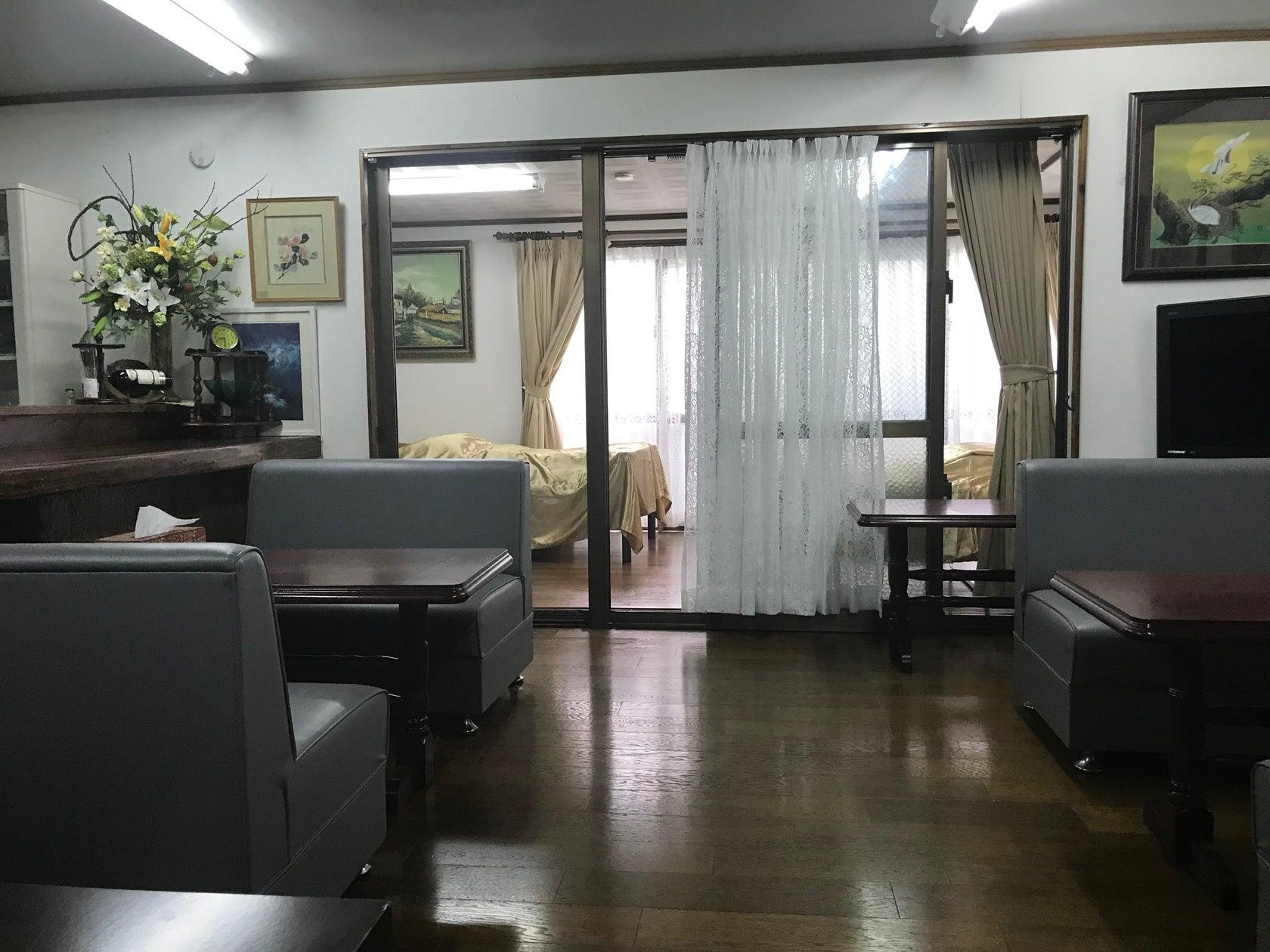 パティ―、教室、宿泊に、簡易キッチン付カフェ1部屋、宿泊に個室2部屋、ご利用ください!! のサムネイル