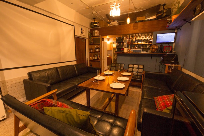【3月花見可】会員制バー 業務用キッチン、カラオケ、プロジェクター有  パーティー、バーベキューに