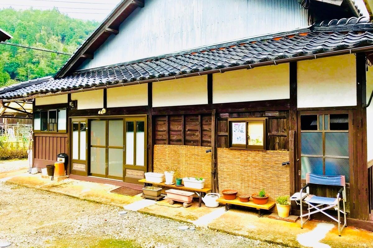 京都の里山にある古民家。近隣には清流、山、滝あり。 の写真