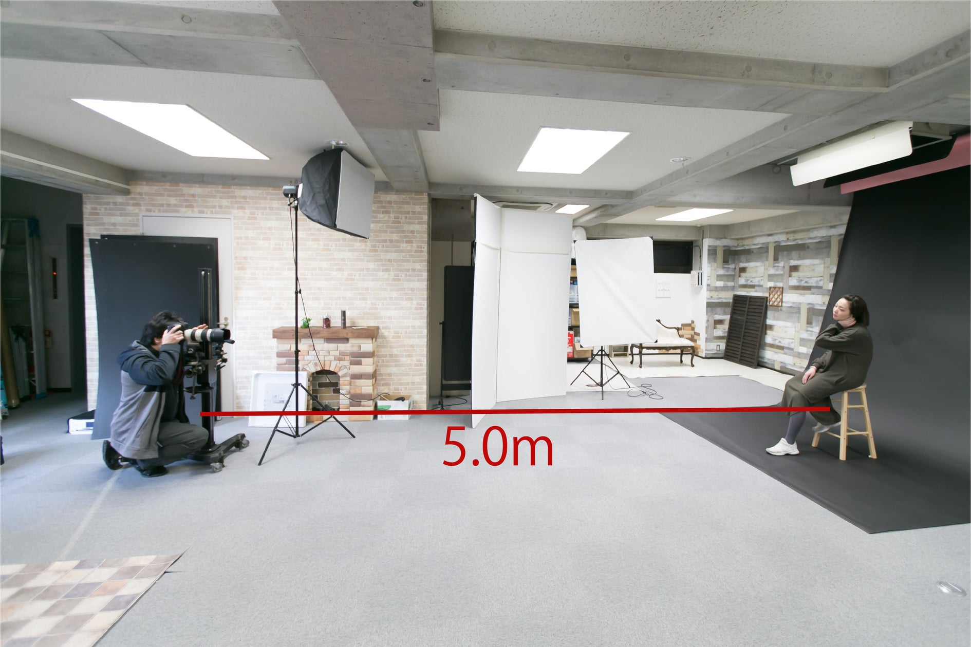 1時間3,000円~、1フロア貸切の広いフォトスタジオ。背景紙・大型ストロボ等の機材もレンタル可能な「I-STUDIO」 の写真