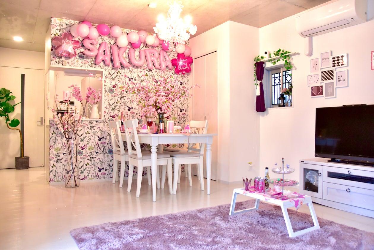 【Villaアメジスト東京】インドア花見🌸姫系デザイナーズ♡ゴミ捨て可/24時間可/築浅/広いキッチン♫ の写真