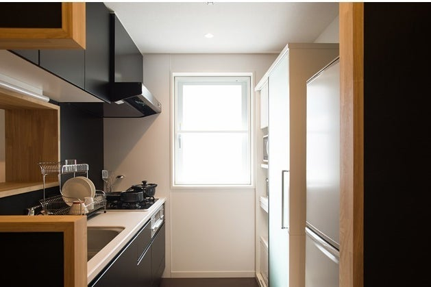 新築マンション、リビング、キッチン、ワークスペース貸切って撮影、イベントやパーティーに! の写真