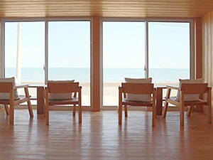 水平線が見える海辺のログハウス(水平線が見える海辺のログハウス) の写真0