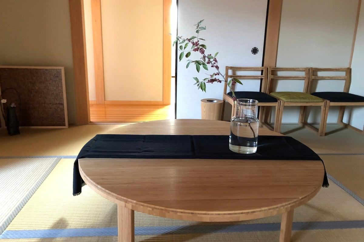 桧皮葺と日本庭園のあるすっきりとした和空間!写真撮影・ロケに! の写真