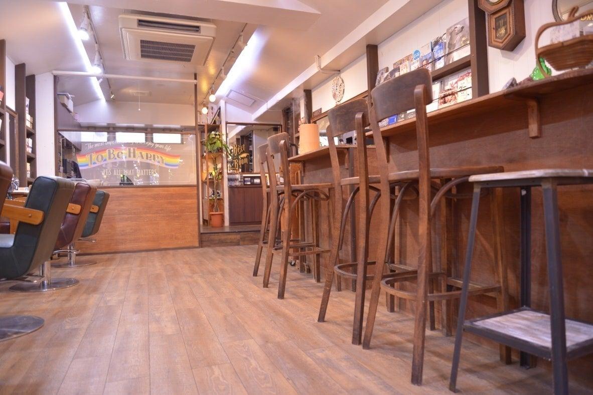 世界のクラフトビールが楽しめる美容室、cafe&barのような落ち着いた空間、面貸し、ロケ撮影、などにどうぞ の写真