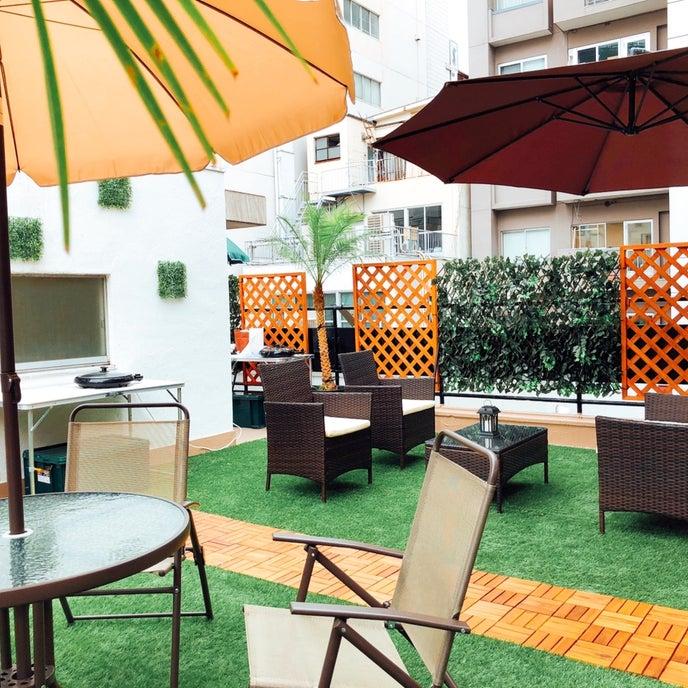 bliss space 渋谷 屋上貸切ビアガーデンでBBQも可能! 都会のテラスで乾杯♪ ホットプレートやキッチンツールもオプションでご利用頂けます。