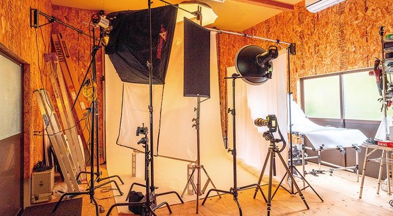 プロカメラマン仕様の本格撮影スタジオ