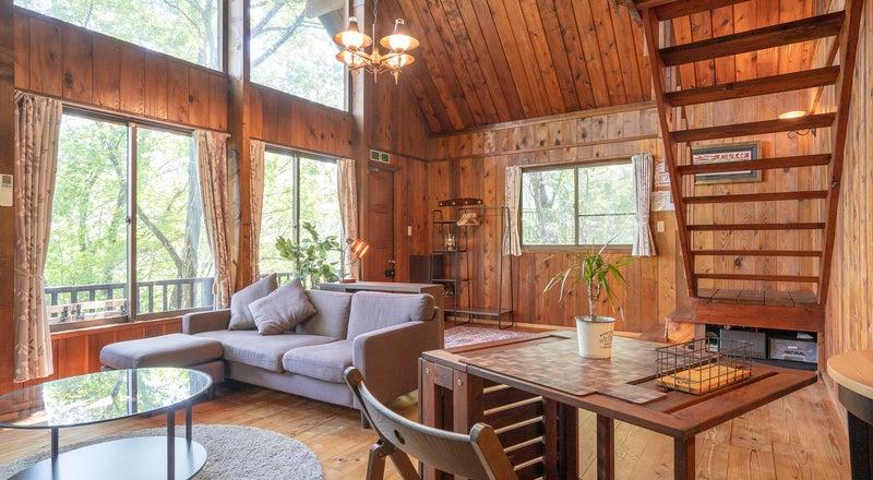 建物貸切!大自然に囲まれた癒しのログハウスで別荘体験!イベント、パーティー、撮影、休息に最適!トイレ、キッチン付き!