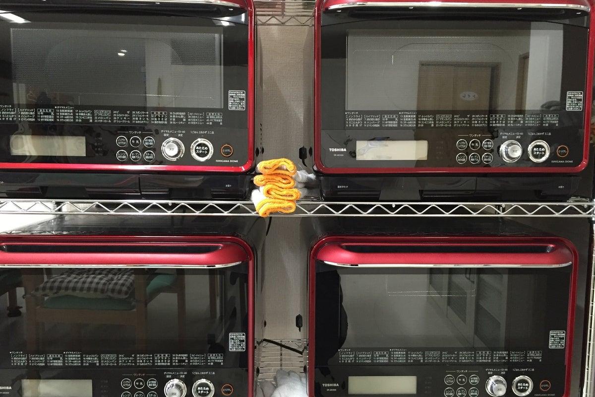 【パン教室、料理教室などに!】電子レンジ5台、ホームベーカリー2台、他家電調理器具付き!! の写真