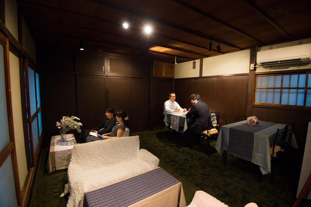 町家のお座敷スペースでゆったりくつろぎ女子会、個室の会議、和室で写真撮影会 の写真