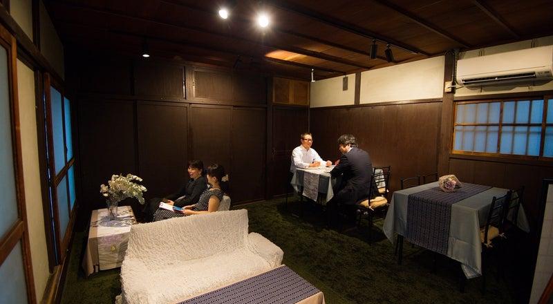 町家のお座敷スペースでゆったりくつろぎ女子会、個室の会議、和室で写真撮影会