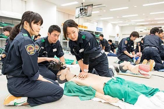 救急救命の実習用スペース!多種専門資機材を揃えています! の写真