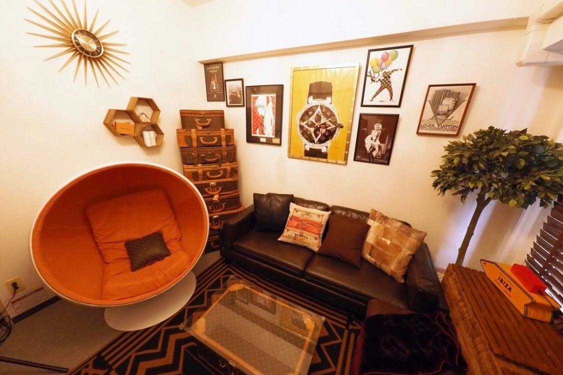 五反田2分⭐️人気の目黒川側でハイセンスな寛ぎ空間💕お部屋デート💛安心仲間で🥂テレワーク💻撮影🎞に大好評‼️ の写真