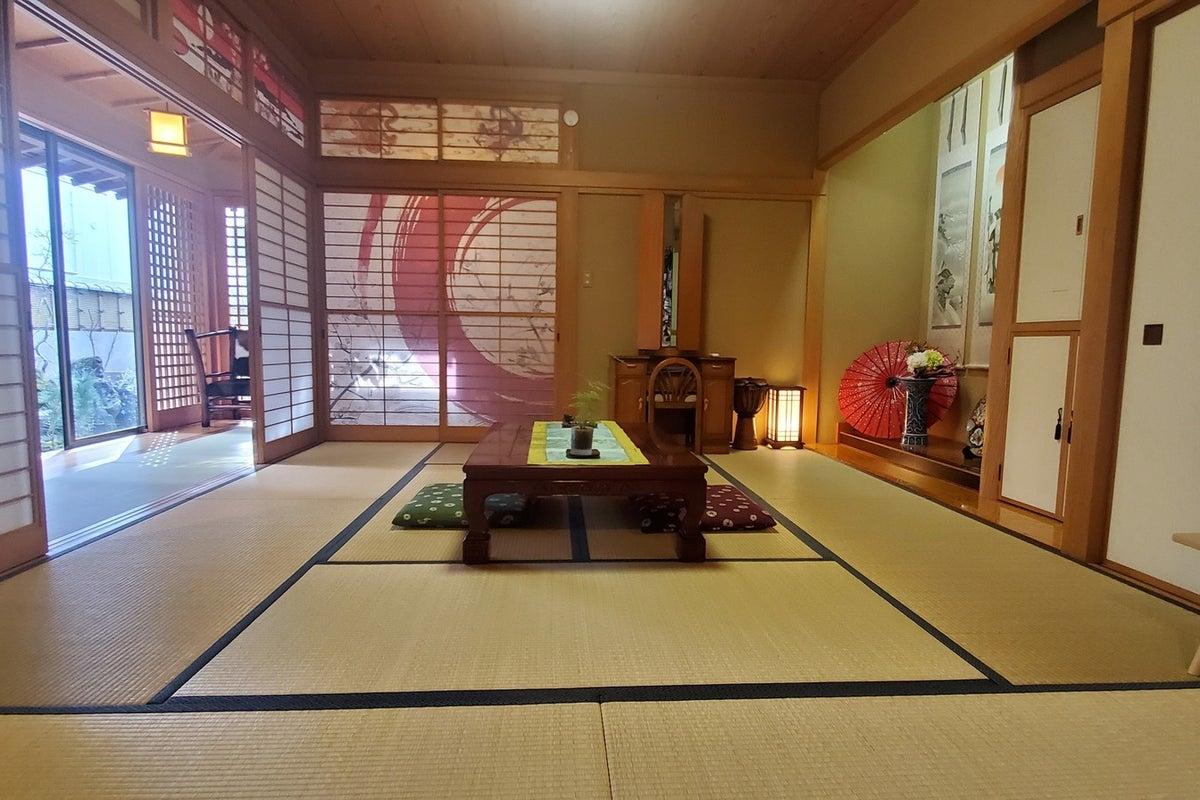 日本庭園スタジオてっぱく☆赤丸の間☆ 記念撮影、コスプレ撮影、習い事、お茶会、ヨガレッスン、研修などに! の写真